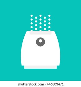 Vector illustration of a humidifier for children's room. Flat vector humidifier icon. Air purifier.