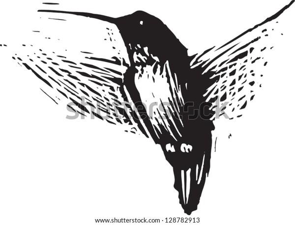 Vector illustration of a hummingbird