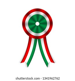 Vector illustration of hungarian cockade.Symbol of hungary's national day on march 15th