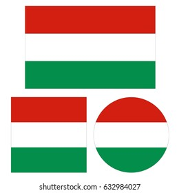 vector illustration of Hungary flags