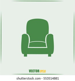 Vector illustration of icon chair