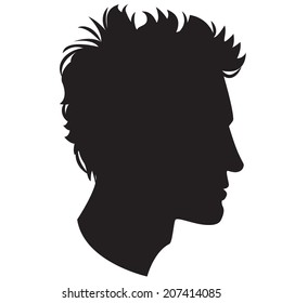 Vector Illustration Icon of  Man head silhouette