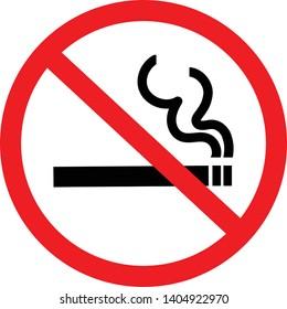 vector illustration icon, No-smoking sign