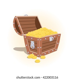 vector illustration icon Pirates chest