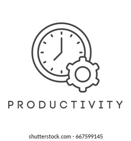 Vector illustration or icon. Productivity