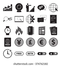 vector illustration of icon set bussines