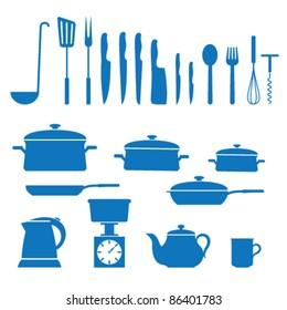 Vector illustration of icons on kitchen appliances
