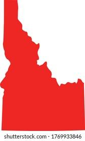 vector illustration of Idaho map