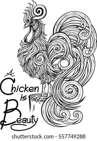 Vector illustration ideal for design mascot and tattoo and greeting card or T-shirt graphic.
