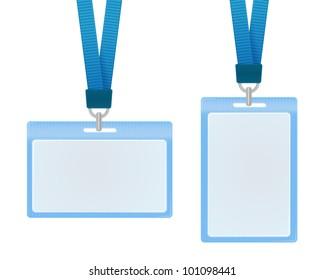 Vector illustration of identification cards