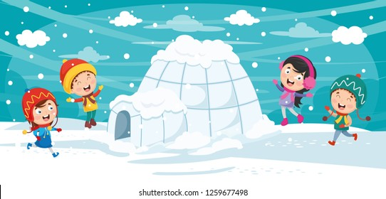 Vector Illustration Of Igloo