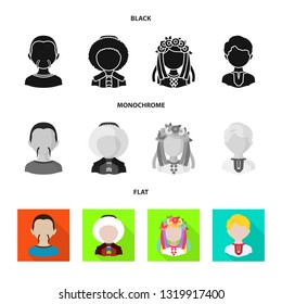 Vector illustration of imitator and resident icon. Set of imitator and culture stock symbol for web.