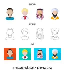 Vector illustration of imitator and resident symbol. Collection of imitator and culture stock vector illustration.