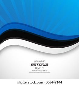 Vector Illustration Independence day of Estonia.