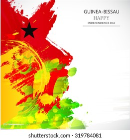 Vector Illustration Independence day of  Guinea-Bissau.