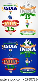 vector illustration of the Independence Day of India on August 15, the traditional flag