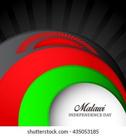 Vector illustration of independence day for malawi.