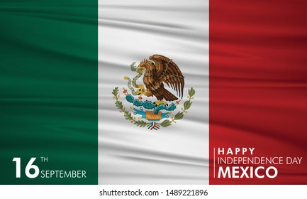 Vector illustration of Independence day in Mexico Celebration on September 16th.