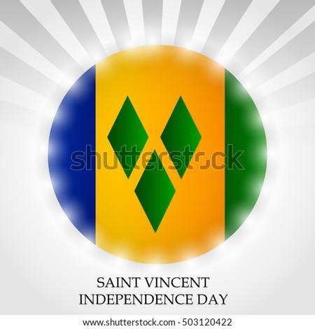 Vector Illustration Independence Day Saint Vincent Stock
