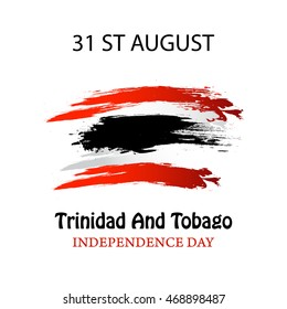 Vector Illustration independence day of Trinidad and Tobago.