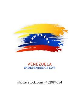 Vector illustration for Independence day of Venezuela.