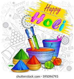 vector illustration of India Festival of Color Happy Holi background