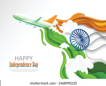 vector illustration for India Independence Day celebration. 15 August