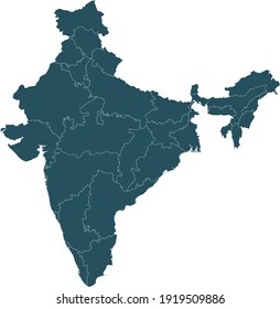vector illustration of India map