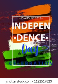 vector illustration of Indian flag theme background for Indian Independence day.card design for 15th August.
