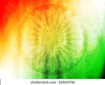 vector illustration of Indian flag theme background for Indian Republic day and Independence day.