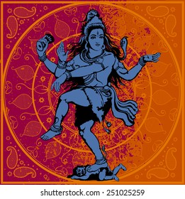 Vector illustration - Indian god Shiva
