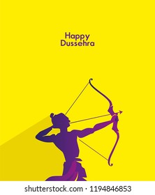 vector illustration. Indian holiday. happy dussehra.