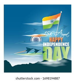 VECTOR ILLUSTRATION FOR INDIAN INDEPENDENCE DAY 15 AUGUST
