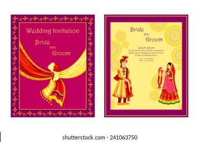 Hindu Wedding Invitation Card Images Stock Photos Vectors