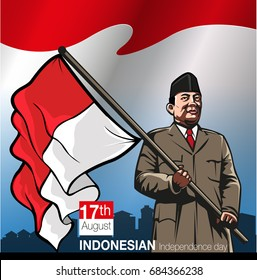 Vector illustration, Indonesia independence day August, 17