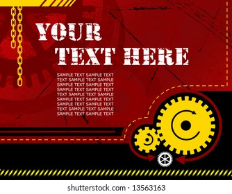 vector illustration - industrial background with plenty of copy space for your text