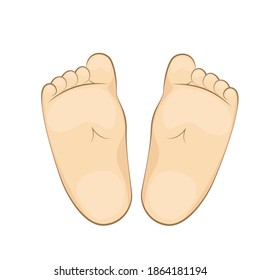 Vector illustration of a infant soles. feet, sole, body part.