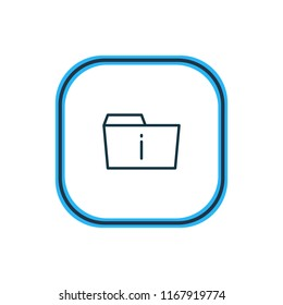 Vector illustration of info icon line. Beautiful dossier element also can be used as information  icon element.