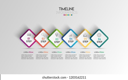 vector illustration Infographic design template with icons and 6 options or steps. Can be used for process, presentations, layout, banner,info graph.