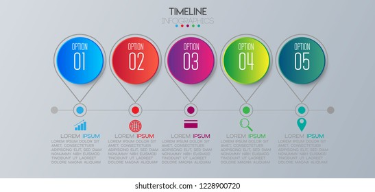 vector illustration Infographic design template with icons and 5 options or steps. Can be used for process, presentations, layout, banner,info graph.