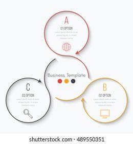 Vector illustration infographics 3 options