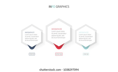 Vector illustration infographics 3 options.Business concept design with modern shapes can be used for report, presentation.