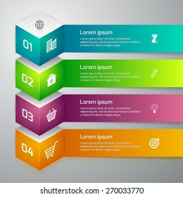 Vector illustration infographics 3d cube
