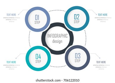 Vector illustration infographics 4 options. Template for business, web design