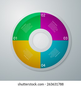 Vector illustration infographics circle with four quadrants