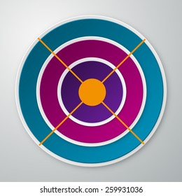 Vector illustration infographics colored circles