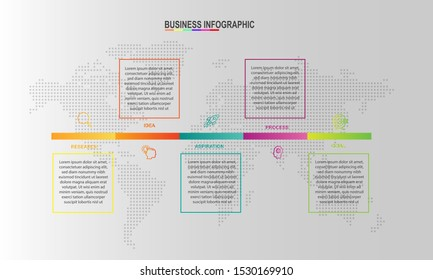 Vector Illustration Infographics design template can be used for workflow layout, diagram, annual report, web design, Creative banner, label vector. Info Graph