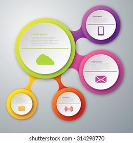 Vector illustration, infographics, paper circles.