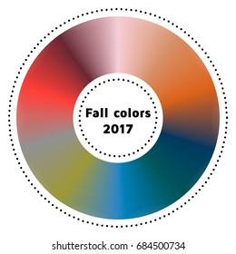 vector illustration, infographics, trendy colors of the 2017 fall, grenadine, tawny port, ballet slipper, butterum, navy peony, neutral gray, shaded spruce, golden lime, marina, autumn maple