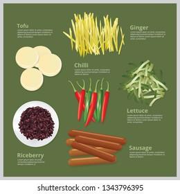 Vector Illustration Ingredient Food